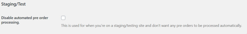 test woocommerce pre orders settings