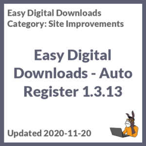 Easy Digital Downloads - Auto Register