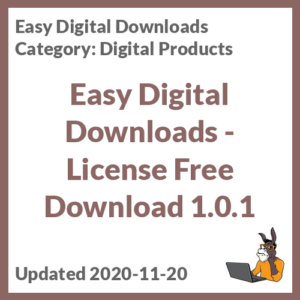 Easy Digital Downloads - License Free Download