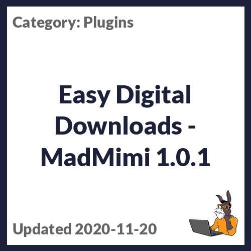 Easy Digital Downloads - MadMimi
