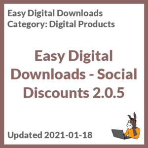 Easy Digital Downloads - Social Discounts