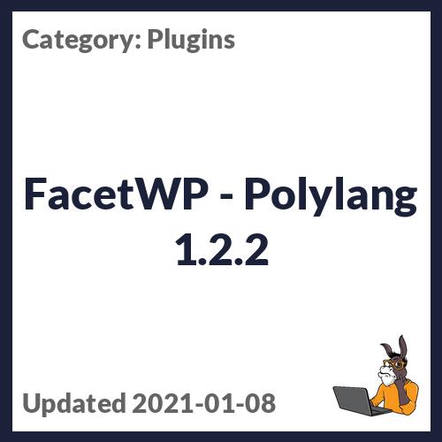 FacetWP - Polylang