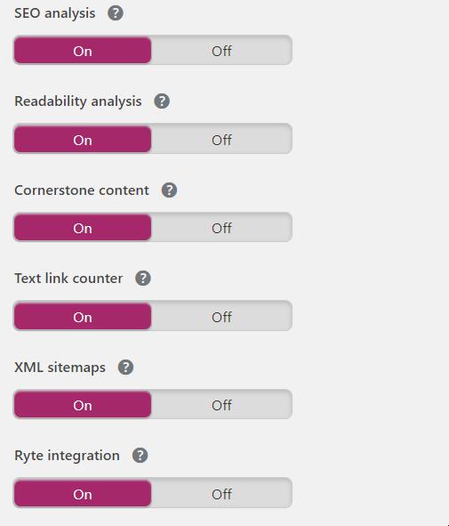 important options wordpress seo pro