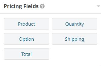 pricing fields