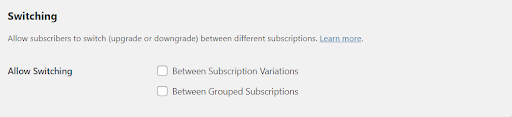 switching woocommerce subscriptions plugin