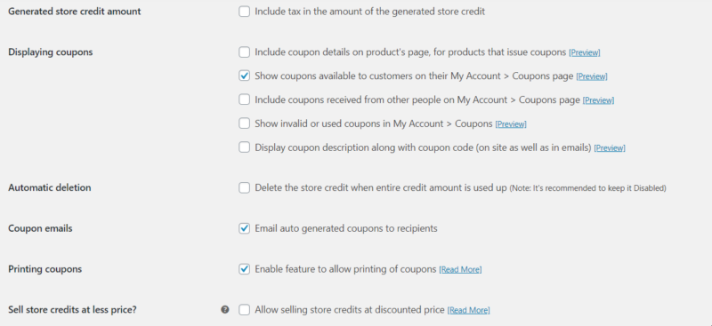 woocommerce coupons more settings