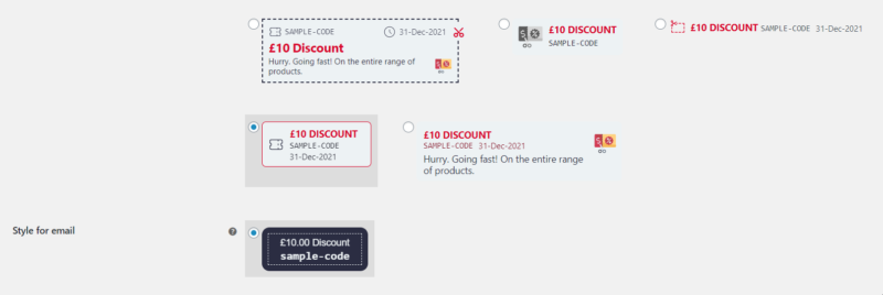woocommerce coupons style 2