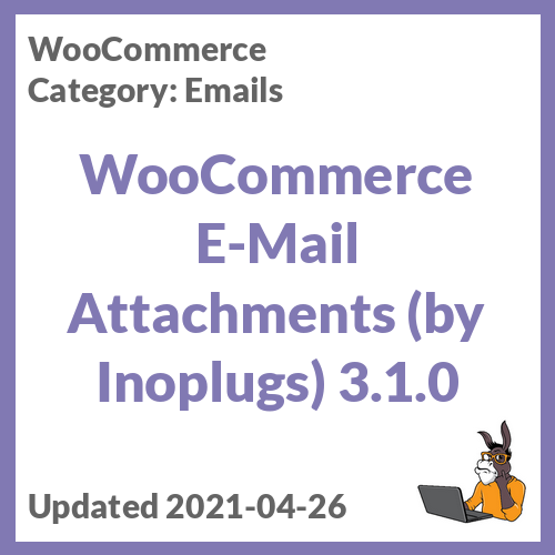WooCommerce E-Mail Attachments (by Inoplugs)