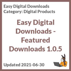 Easy Digital Downloads - Featured Downloads