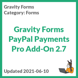 Gravity Forms PayPal Payments Pro Add-On