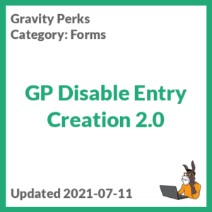 GP Disable Entry Creation