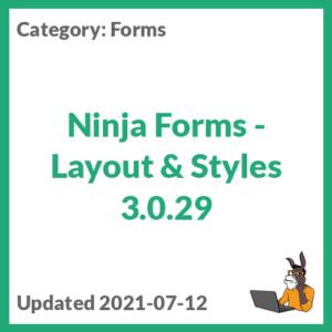 Ninja Forms - Layout & Styles